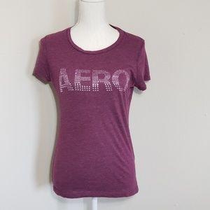 Aeropostale Maroon Bling T-shirt